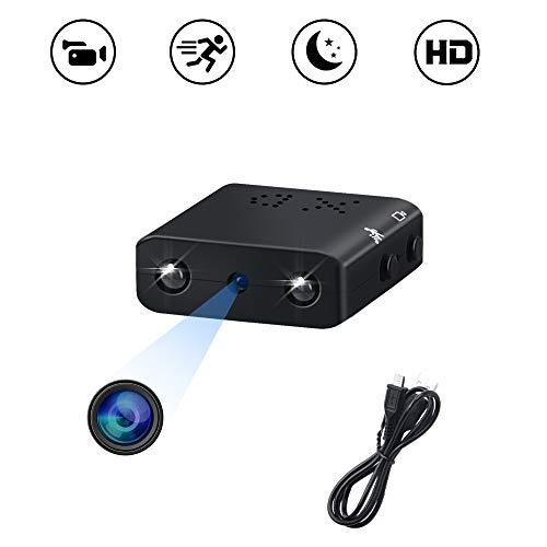 Mini Kamera, UYIKOO Tragbare Kamera HD 1080P Kleine Kamera Micro Nanny Cam für Heimsicherheit Überwachungskamera mit Bewegungserkennung und Infrarot Nachtsicht
