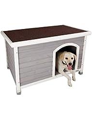 AA-GWCWWWL Caseta Interior para Perros con Puerta de Hierro, Refugio de Madera para
