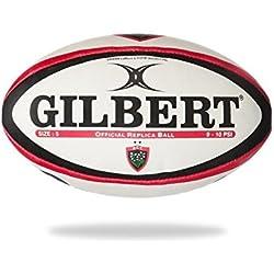 Gilbert Toulon - Ballon de Rugby Réplique Officiel - Blanc - taille 5