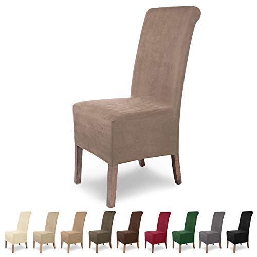 SCHEFFLER-Home Leon 2 Fundas de sillas, Estirable Cubiertas, Polipiel extraíble flexibel Funda...