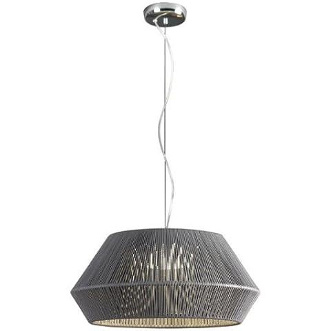 Lámpara colección Banyo. Realizada mediante estructura metálica trenzada en c...