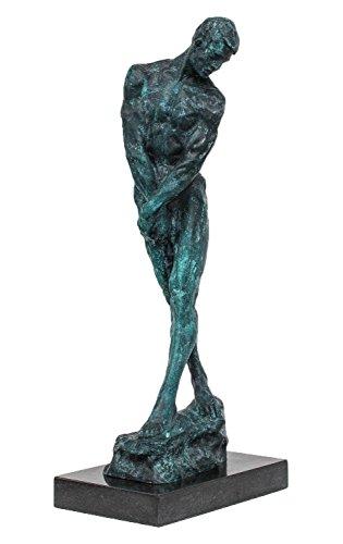 aubaho Bronzeskulptur Akt Jüngling Bronze Skulptur Figur Nach Rodin Replika