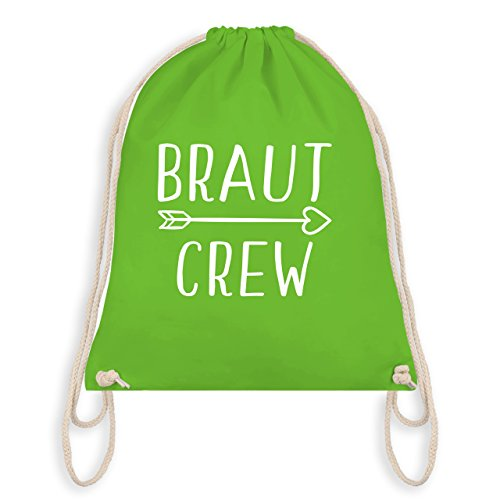bschied - Braut Crew Pfeile - Unisize - Hellgrün - WM110 - Turnbeutel I Gym Bag (Spaß Rucksäcke)