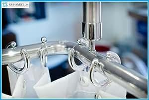 Aluminium support de plafond Extra long 120cm pour coin de rideau de douche Argenté brillant gratuit. de barrière sous Seiling d'angle Tige.