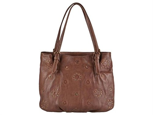 Leder cm cognac Riveted 36 Tasche Greenburry Shopper Madeleine qTFI4