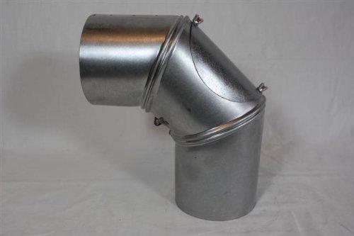 Rauchrohr, Ofenrohr Bogen drehbar mit Tür FAL 130 ø 0,6mm stark