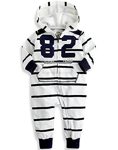 Vaenait Baby 80-92 Maedchen Infant Jumpsuit Rompers Baby Vaenait Team 82 White 18-24M