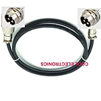 Ochoos 4 pin GX12 12mm Air Female Male Aviation Socket Connector Plug Cable 1m - (Color: 4p Male to Female)