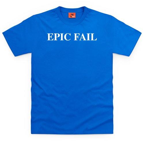 Epic Fail T-Shirt, Herren Royalblau