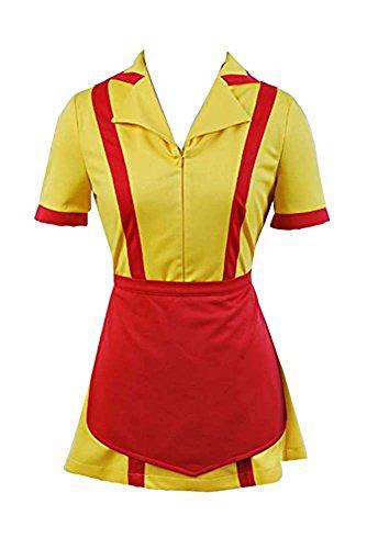 Kellnerin Kostüm Sexy kleid Gelb Gr.XS-XXL (Damen 2 Broke Girls Kellnerin Kostüme)