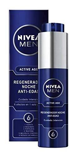 NIVEA MEN Lata Active Age con 2 cremas de día y noche, caja de regalo para el cuidado de la piel, kit de regalo para hombre con cremas con fórmula antiedad