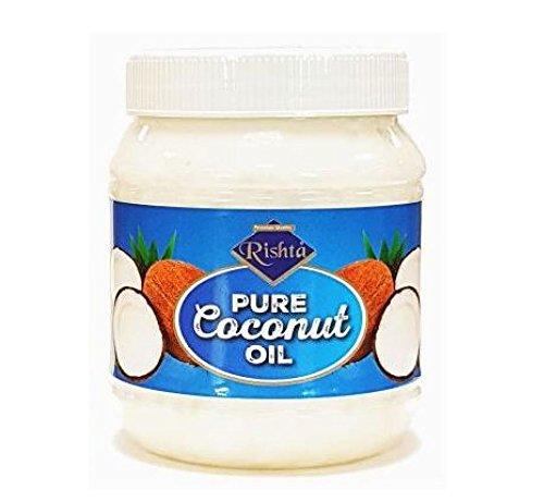 Rishta - Huile de noix de coco pure - comestible - lot de 2 pots de 500 ml