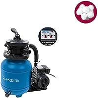 Miganeo® Sandfilteranlage Speedclean 7000 mit integrierter Zeitschaltuhr blau inkl. Filterballs 403992