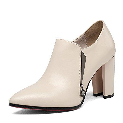 bottes talons de printemps/Short-baril fashion bottes en hiver/ brut nue bottes pointues B