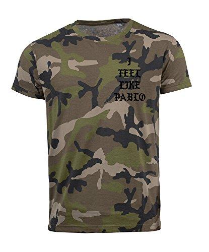 TRVPPY Herren Camouflage T-Shirt Modell THIS IS A GOD DREAM / mit Rücken -und Brustaufdruck / in versch. Farben Schwarz-Camouflage