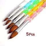 Savni high quality Acrylic brushes for nail art having 5 sizes