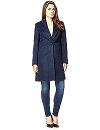Anastasia Navy Single Breasted Mohair Winter Winter Coat