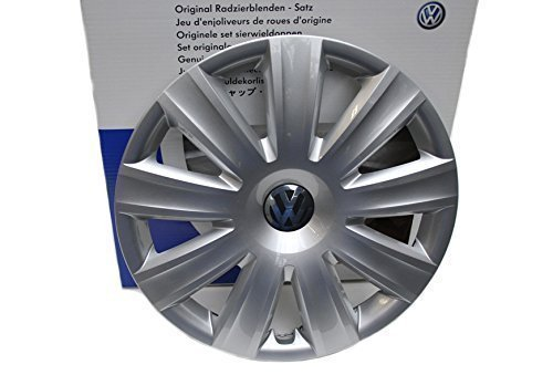 Original Volkswagen VW Ersatzteile VW Radkappen (Tiguan Sharan) Original Radzierblende, silber