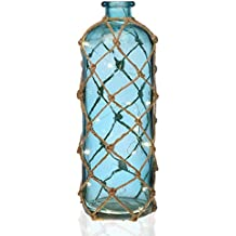 Versa 21210140 Botella Led Azul, 41,5x14,5x14,5cm, Cristal