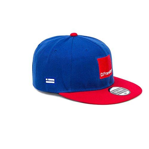 D.Franklin Blue-Red Blend Snapback, Chapeau Unisex Bleu