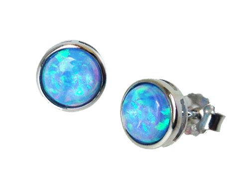 blue-opal-stud-earrings-vibrant-colour-in-925-sterling-silver-with-8mm-round-cultured-opals
