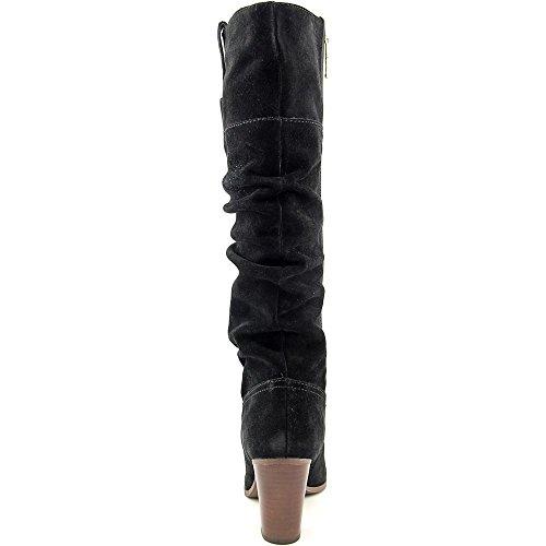 Tommy Hilfiger Trinety Damen Rund Wildleder Mode-Knie hoch Stiefel Black Multi