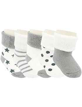 Ateid 5 Paar Baby Dicke Socken aus Baumwolle Herbst Winter 0-36 Monate