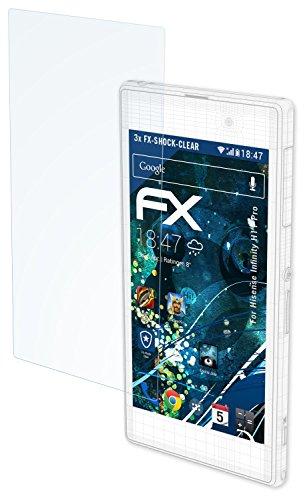 atFolix Schutzfolie kompatibel mit Hisense Infinity H11 Pro Panzerfolie, ultraklare & stoßdämpfende FX Folie (3X)