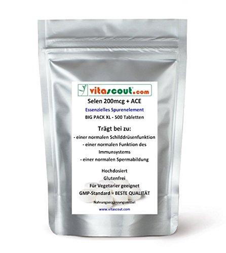 Selen/Selenium 200 mcg & ACE - 500 Tabletten - PN: 051211