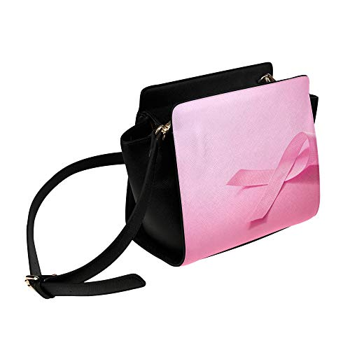 Pink Ribbon Breast Cancer Awareness Umhängetasche Umhängetaschen Reisetaschen Seesack Umhängetaschen Gepäck Organizer Für Lady Girls Womens Work Shopping Outdoor -
