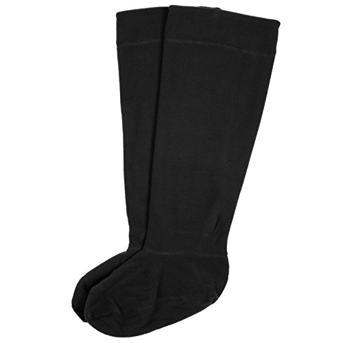 Mens Fleece Welly Liner Socks Wellies Boots Durable Warm Soft - Black...