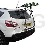 Voiture 3Vélo Cycle Transporteur de fixation arrière de porte de coffre pour Nissan Qashqai à partir de 2007