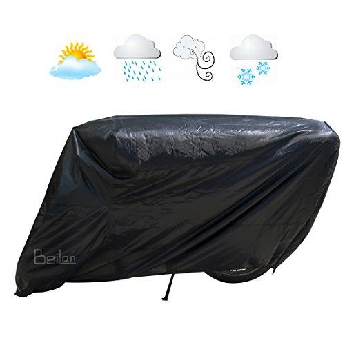 rradabdeckung Wasserdichte Sonnenschutz UV-Schutz-Motorrad-Abdeckung Staub-Regen-Abdeckung mit elastischen Hemden Alle Jahreszeit Innen-Außenschutz passt bis zu 71