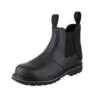 Amblers Unisex Steel FS5 Pull-On Dealer Boot/Womens Mens Boots (4 UK) (Black)