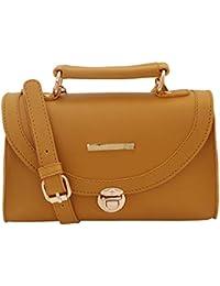 Lapis O Lupo Gloomy Yellow Women Sling Bag (Yellow)