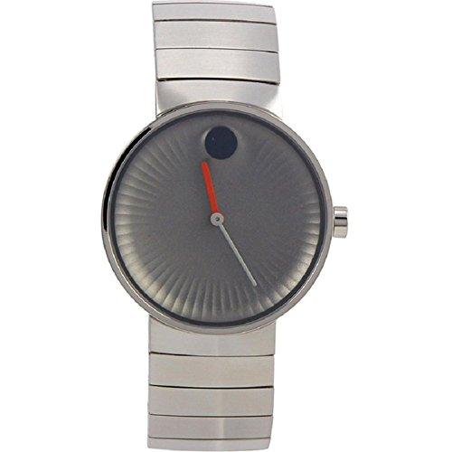 Movado borde gris aluminio Dial Swiss Quartz reloj para hombre 3680008
