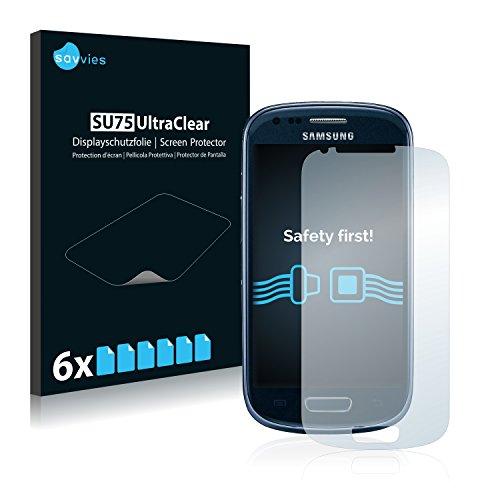 Savvies Pellicola Protettiva compatibile con Samsung Galaxy S3 Mini I8190 Protezione Schermo [6 Pezzi]