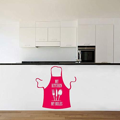 BFMBCH Delantal divertido pegatinas pared mi cocina