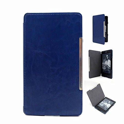 Meijunter Deep Blue Hard Cuero Protector Faltriquera Cáscara Caso Estuche Cubrir Cubierta Case Cover por Kindle 4 5 4th 5th