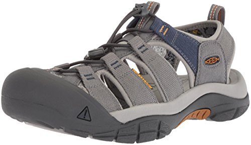 Keen Herren Newport H2 Sandalen Trekking- & Wanderschuhe, Grau Steel Grey/Paloma, 42 EU