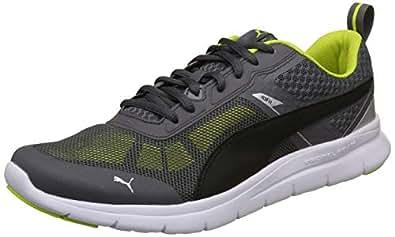 Puma Unisex Iron Gate Black-Limepunch Sneakers-10 UK/India (44.5 EU)(4059506197789)