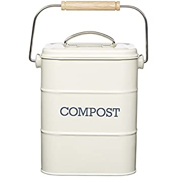 living nostalgia metal kitchen compost bin antique cream 165 x 12 x 24 cm