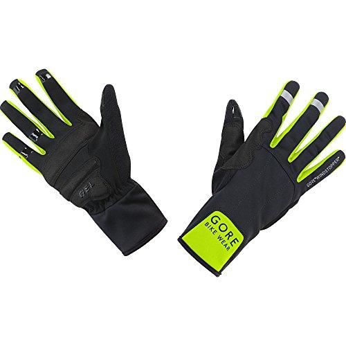 GORE WEAR Herren Universal Windstopper Mid Handschuhe, Schwarz/Neon Gelb, 7 -