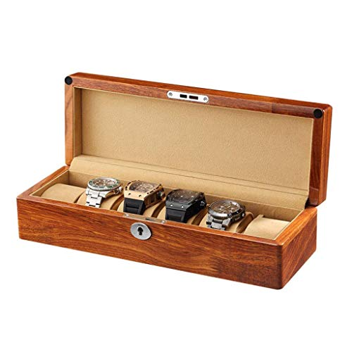 wellery Display Case Mens Watch Display Box, Accessories-Gift for Man, Women, Husband,A-6watchs ()