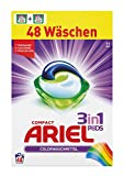 Ariel 3in1 Pods Colorwaschmittel, 2er Pack (2 x 24 Waschladungen)