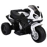 HOMCOM Elektro Kindermotorrad Kinderfahrzeug Lizensiert von BMW S1000RR Elektro-Dreirad mit Akku...