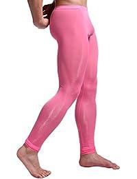 c1a0ee295 YiZYiF Men s Low Rise Leggings Solid Color Long Johns Pants Thermal  Underwear