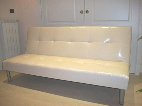 Italfrom divano letto sofa bed divani 3 posti 178 x 79 x 84 divanetti divano attesa beige - cod.283