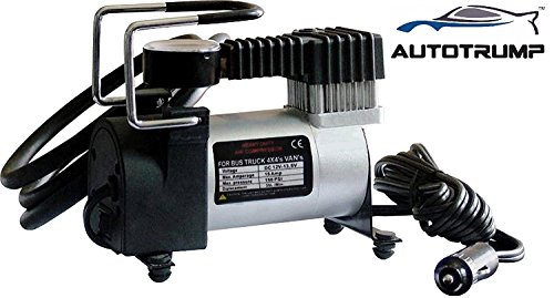 AUTOTRUMP Air Compressor Pump Tire Inflator 12V Electric Car Bike Suv Metal  available at amazon for Rs.1330