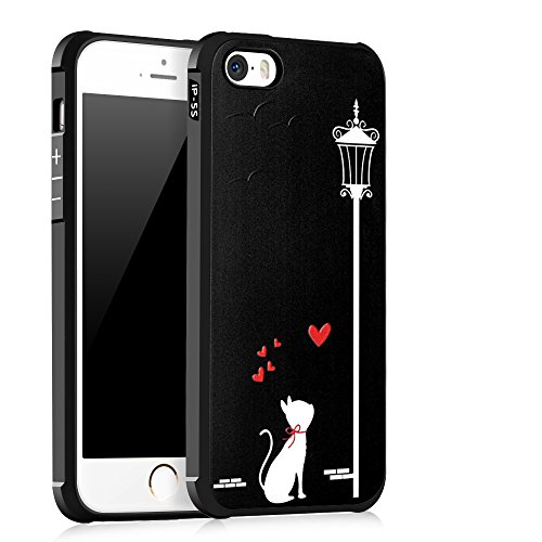 UKDANDANWEI Apple iPhone SE [QKS] TPU Souple Housse de Protection Case Téléphone Pour Apple iPhone SE - Style(02) Style(10)